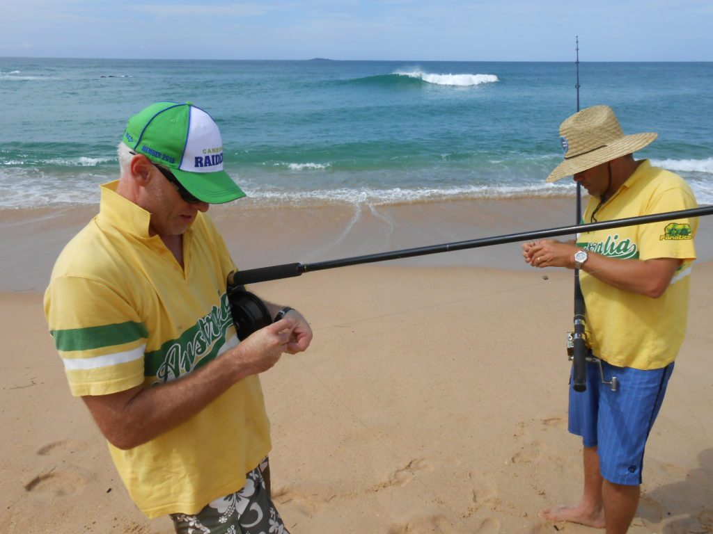 Beach and fishing - Paul and Phil