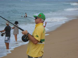 Beach and fishing - about me header