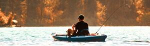kayak fish finder - stripe with phone