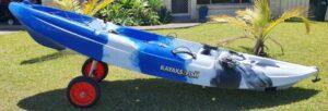 kayak fishing tips - kayak carrier