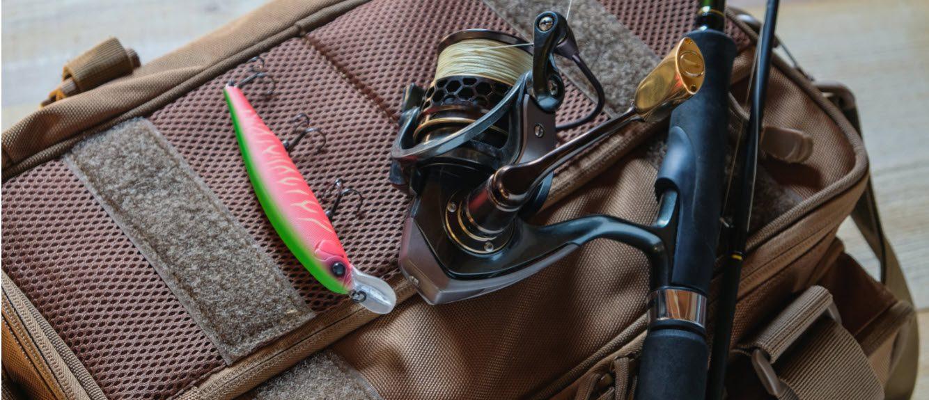 surf fishing tackle bag - stripe
