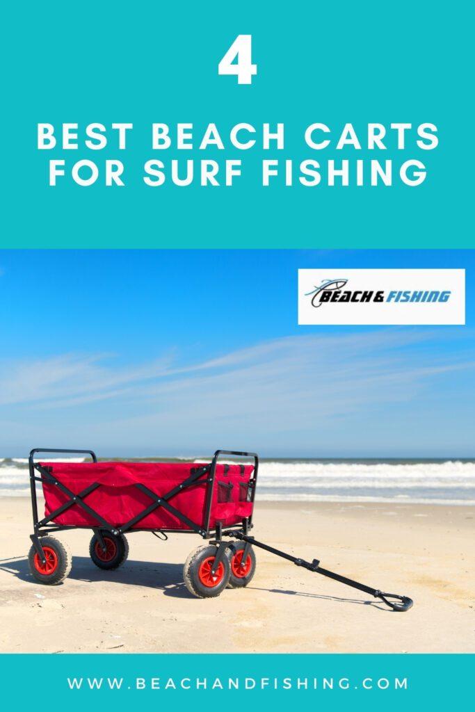 4 Best Beach Carts for Surf Fishing - Pinterest