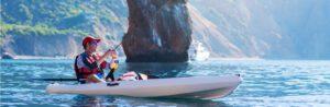 baitcaster rod and reel combo kayak - kayak fisherman with baitcaster