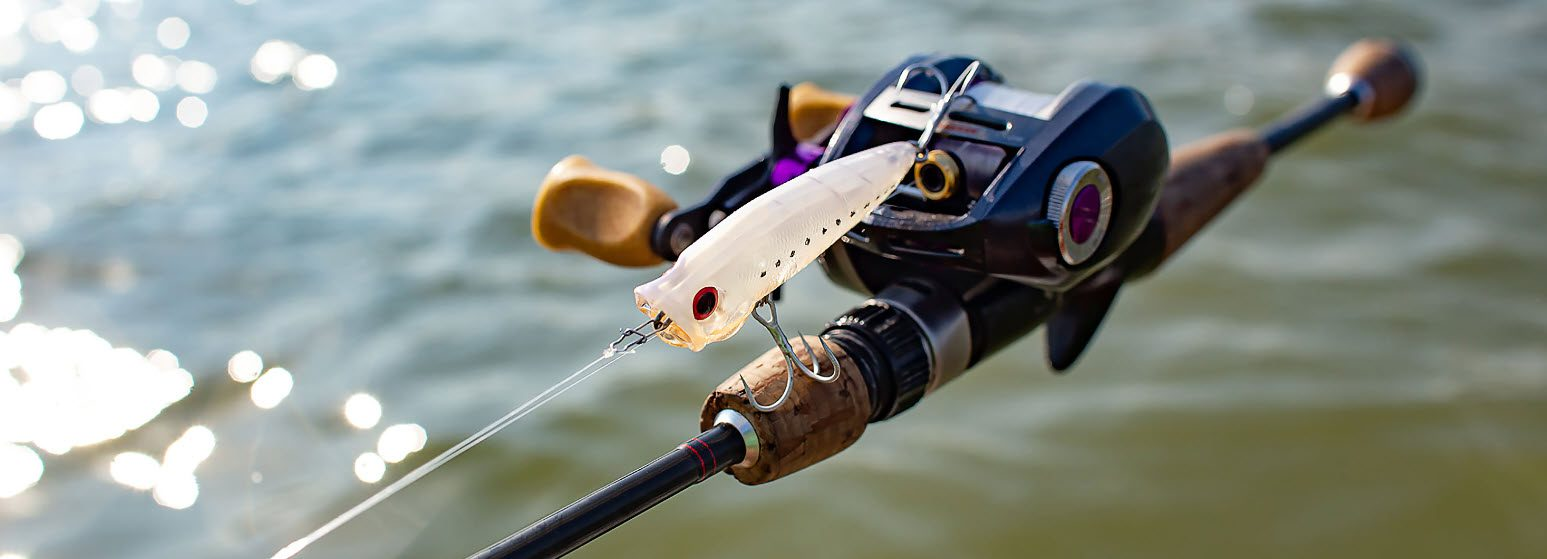 best casting rods for kayak - baitcaster rod and reel with lure