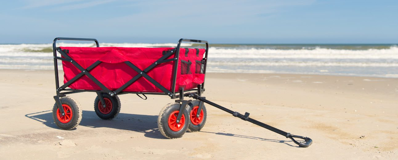 carts for beach fishing - cart on beach