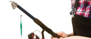 telescopic fishing rod - man collapsed rod