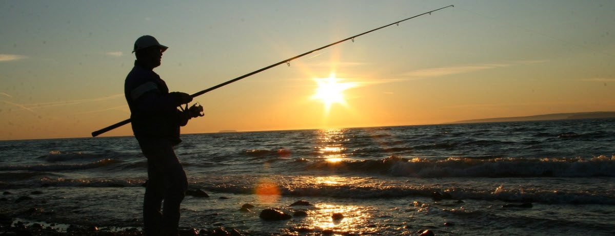 telescopic surf rod and and reel combos - dusk fishing