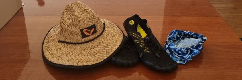 Best Fishing Clothing For The Surf - hat and shoes
