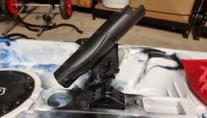 DIY fishing kayak modifications - rod holder