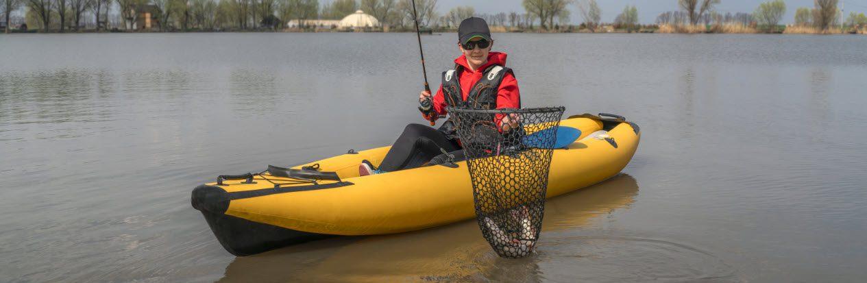 best kayak landing nets - catch in net
