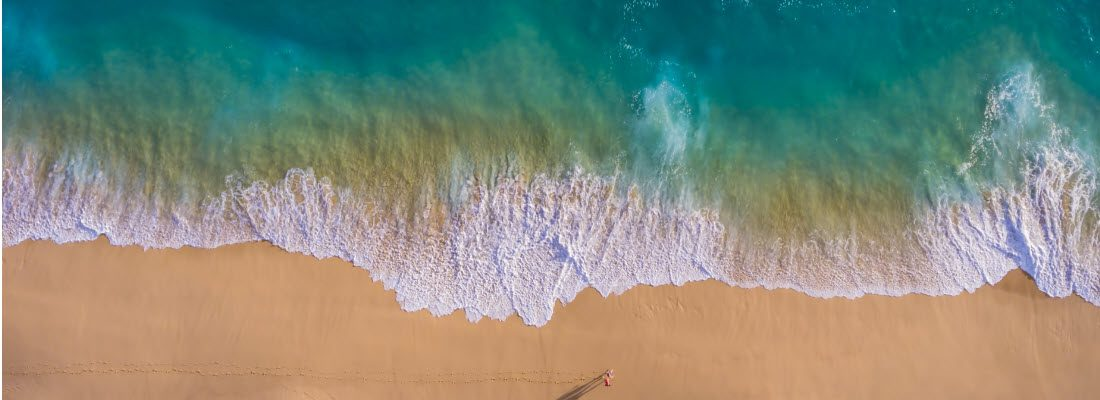 best surf fishing drones - drone view