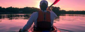 lights for kayak fishing - man in kayak