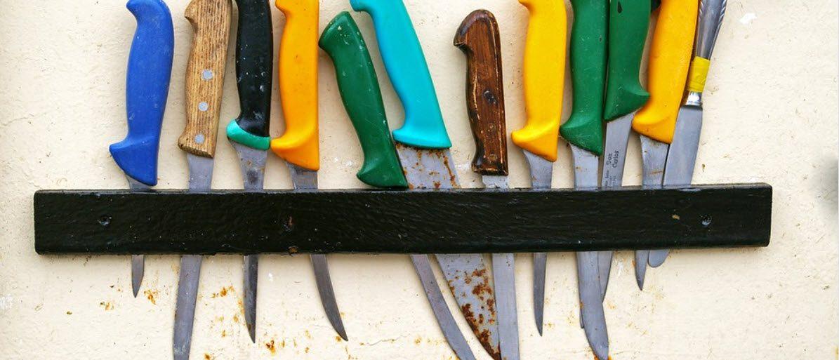 best fish filleting Knives - knives in holder
