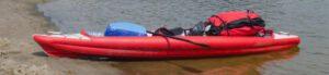 fishing dry bag - bag in kayak