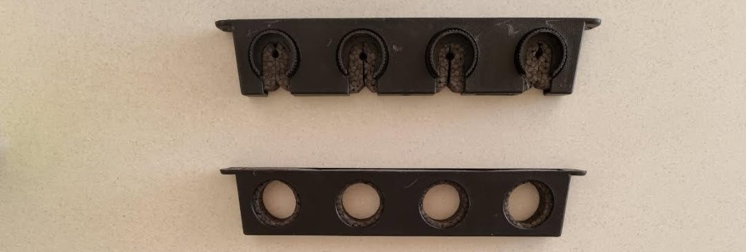 fishing rod storage ideas - plastic rod holders