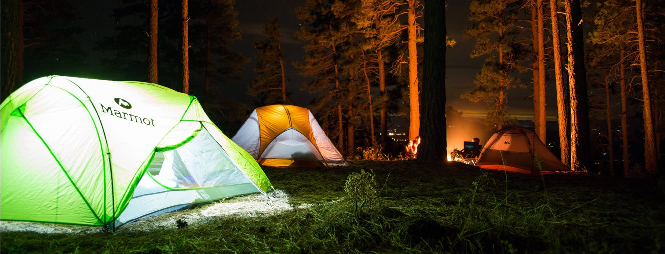 Must Have Camping Items - tent with lights