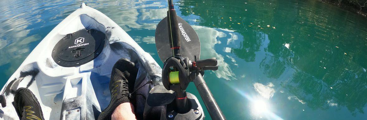 Shimano Caius Review - Caius in kayak