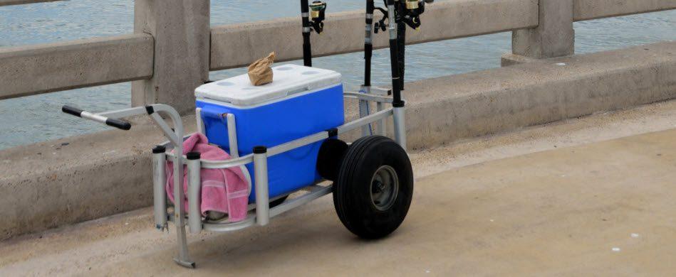 juggernaut beach cart review - cart on pier