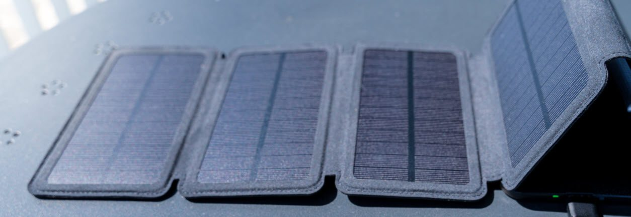 Best Portable Solar Panels for Camping - Fold out solar panel