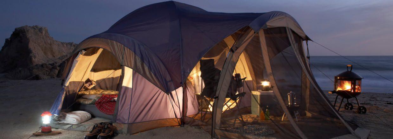 Summer Camping Tips - Beach campsite