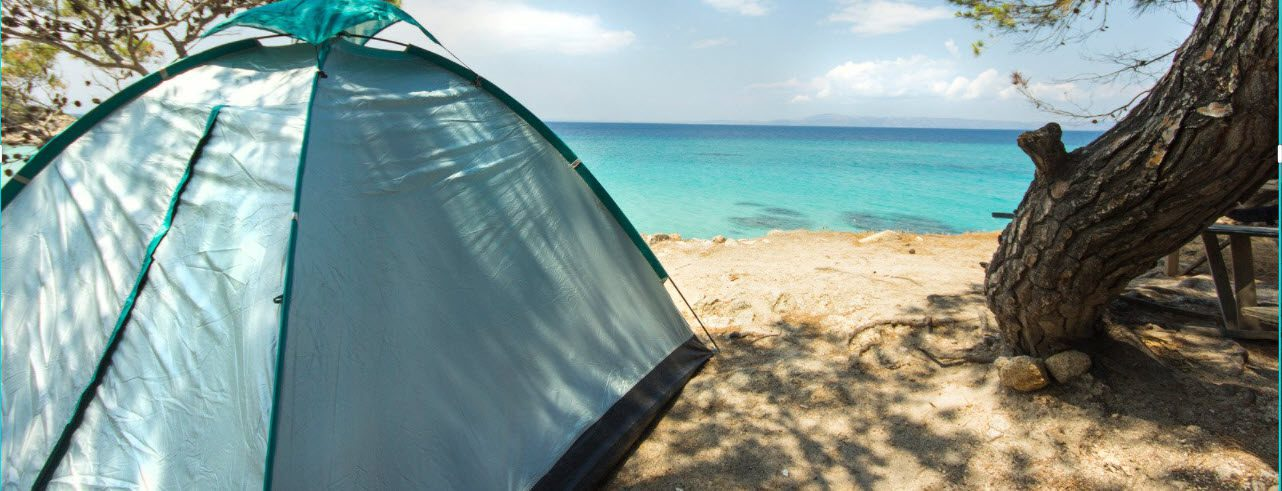 Summer Camping Tips - Tent in shade