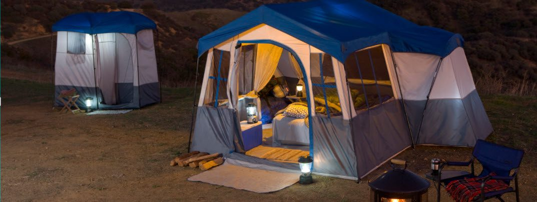 best family tents for camping - big tent