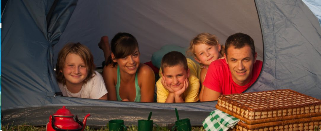 best family tents for camping - family in tent1