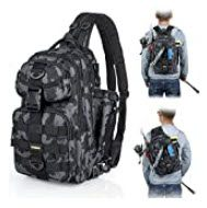best fishing backpacks with rod holders - PLUSINNO Fishing Backpack