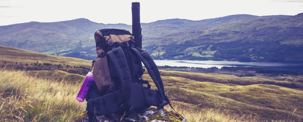 best fishing backpacks with rod holders - backpack near water