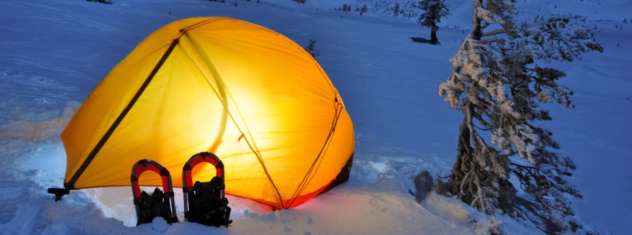 tips for winter camping - camping in snow