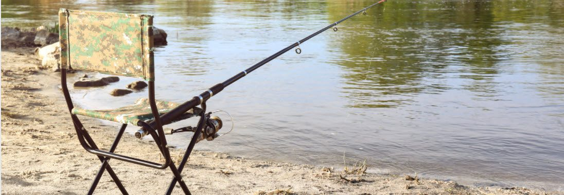 Best Fishing Chairs With A Rod Holder - fold chair with rod attached