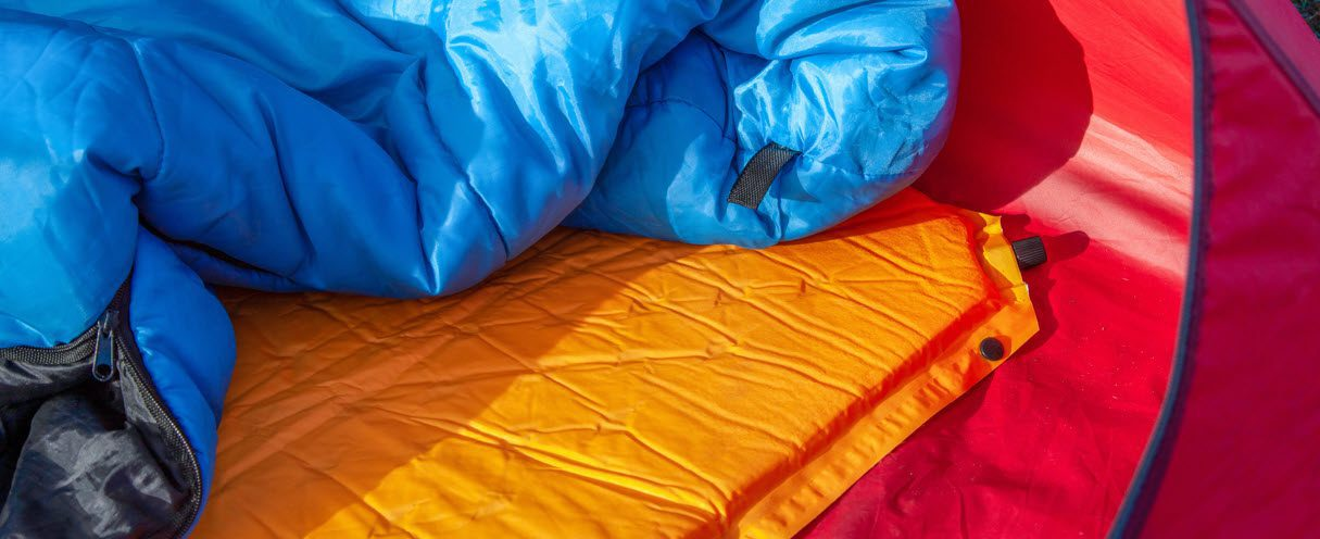 Camping Sleeping Pad - pad in tent