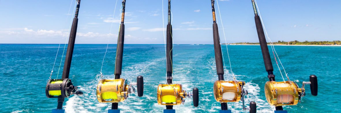 tips for deep sea fishing - rods in boat